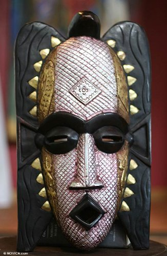 NOVICA Decorative Large Sese Wood Mask, Multicolor, 'Ghost' by NOVICA