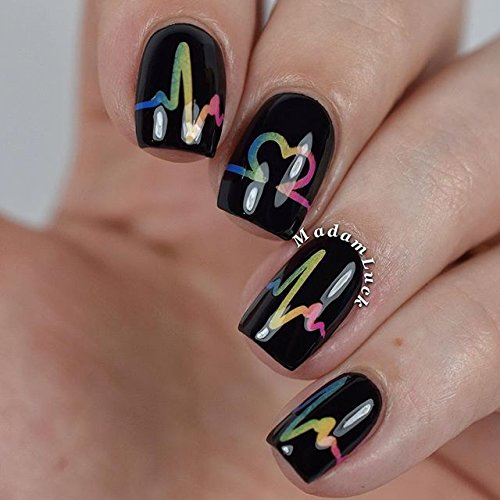 Whats Up Nails - Heartbeat Tape Nail Stencils Stickers Vinyls ...