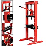 Hydraulic Jack Shop Press Floor Adjustable Heavy Duty Excellent Bending Stand 12 Ton Equipment H-Frame Plates - House Deals