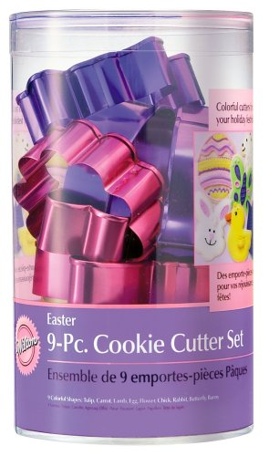 Wilton Easter 9pc Color And Cookie Cutter Set