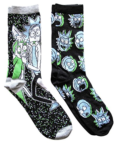 Men's Rick And Morty Casual Crew Socks (Galaxy Rick),Shoe 6-12 from HYP
