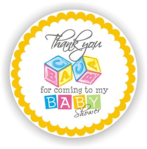 Blocks Shower Baby Boy (Philly Art & Crafts Baby Shower Stickers - It's a Boy Stickers - Favor Stickers - Baby Shower Favor Stickers - Baby Blocks Stickers - Set of 40 Stickers)