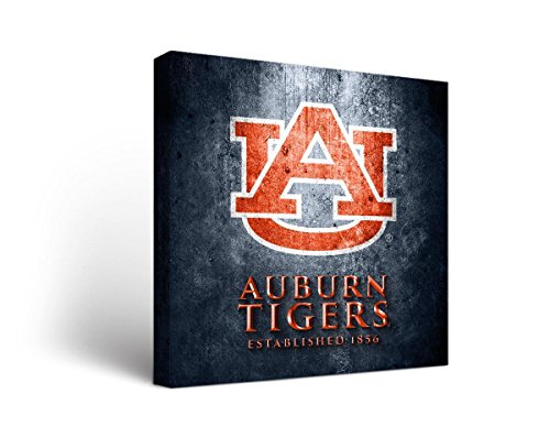 Victory Tailgate Auburn University Tigers Canvas Wall Art Museum Design (24x24) ()