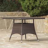 Patio Furniture Square Dining Table Rattan Garden Outdoor Backyard Wicker Table