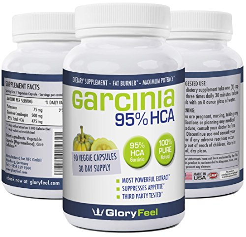 Xtreme Capsules Lean 90 (GloryFeel Pure Garcinia Cambogia Extract -Weight Loss Diet Pills - 95% HCA Capsules - Natural Gluten and Gelatin Free Supplement - Appetite Suppressant - 90 Servings 30 Day Supply)