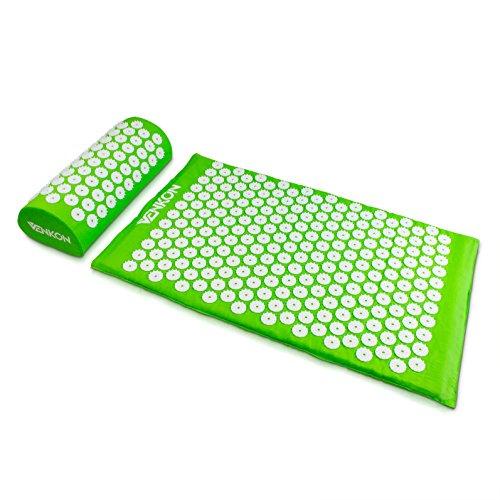 Acupressure Set avec housse de transport - Vert 2 pièces - Oreiller et tapis de massage traitement de la douleur