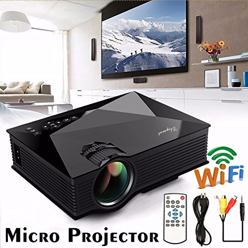 Mini wifi projector elegiant 1200lm led multimedia for Iphone mini projector reviews