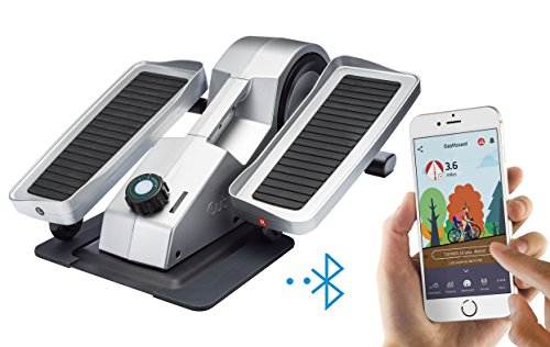 Cubii Pro Under Desk Elliptical, Bluetooth Enabled, Sync with Fitbit and HealthKit, Adjustable Resistance, Easy Assembly (Chrome)