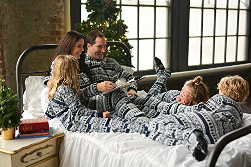 SleepytimePjs Family Matching Sleepwear Fleece Penguin Fairisle Onesie  Footed Pajamas PJs Sets dfd21e97e