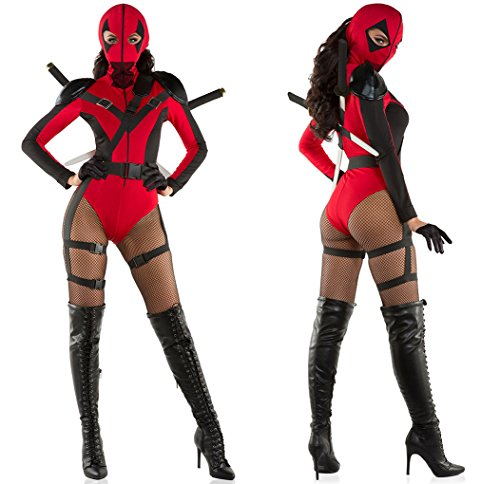 Faerynicethings Adult Size Female Dead Assassin Costume - Small -
