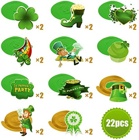 Patricks Day Green Spiral Ribbon Ceiling Pendant Holiday Party Decoration Holiday Theme Decoration St