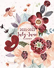 """2021-2022 July-June Planner: Academic Calendar July 2021 -June 2022 size 8""""x10"""" Daily-Weekly-Monthly"""