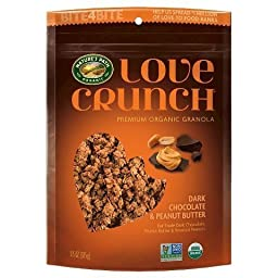 Dark Chocolate & Peanut Butter Love Crunch Premium Organic Granola, 3-11.5oz Bags