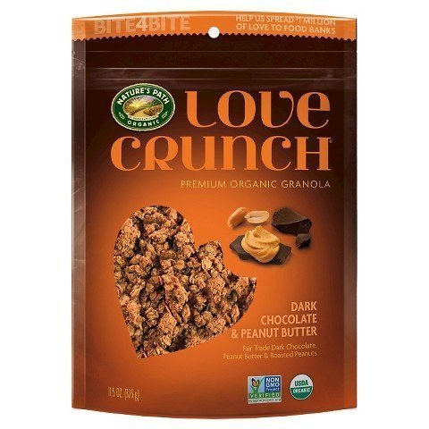 Dark Chocolate & Peanut Butter Love Crunch Premium Organic Granola, 2-11.5oz Bags by Love - Oz 9 Granola