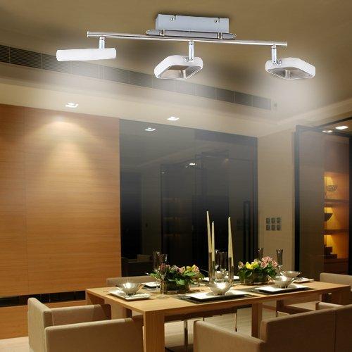 Attirant Lu Mi® LED Deckenleuchte Deckenlampe Leuchte Designleuchte  Wohnzimmer Küche Strahler (Linea LED Kvader