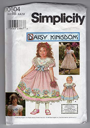 - Simplicity Pattern 0604 Child's Dress and Doll Dress for 18