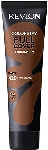 Revlon ColorStay Full Cover Foundation, Mahogany, 1.0 Fluid Ounce