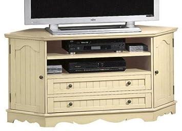 Amazon Com French Country Corner Tv Stand W 2 Drawers 26 Hx53 W