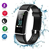 Teamyo Fitness Tracker HR, Activity Tracker Watch Smart Bracelet with Heart Rate Blood Pressure Monitor, Mother's Day Gift Color Screen,IP67 Waterproof Smart Band