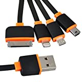 [2 Pack] USB Charging Cable, 4 in 1 Multiple Fast