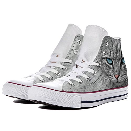 Star Hi Blue Converse M7650c Scarpe Eyes Yourstyle Grey Personalizzate Sneaker By All Unisex Canvas nWFtczc