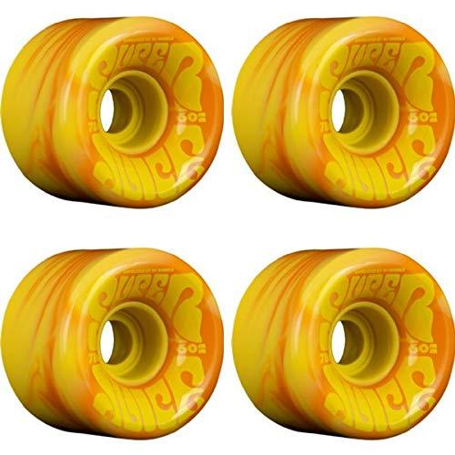 OJ Wheels Danny Dicola Super Juice オレンジイエロー 渦巻き スケートボードホイール - 60mm 78a (4個セット)
