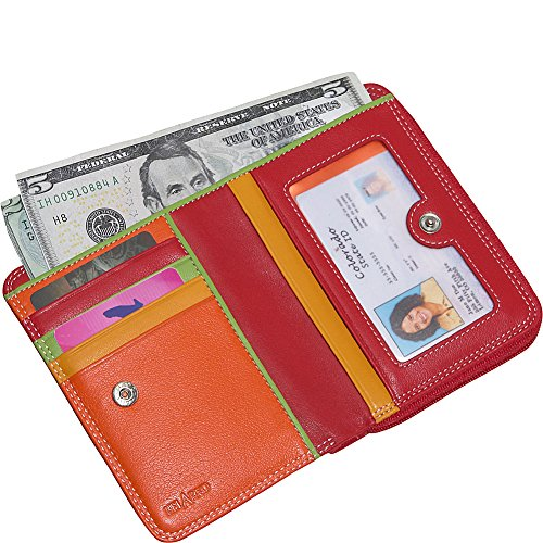 Multi Color Multi Side Bi Belarno Zip fold Wallet Purple qH87Ofxw