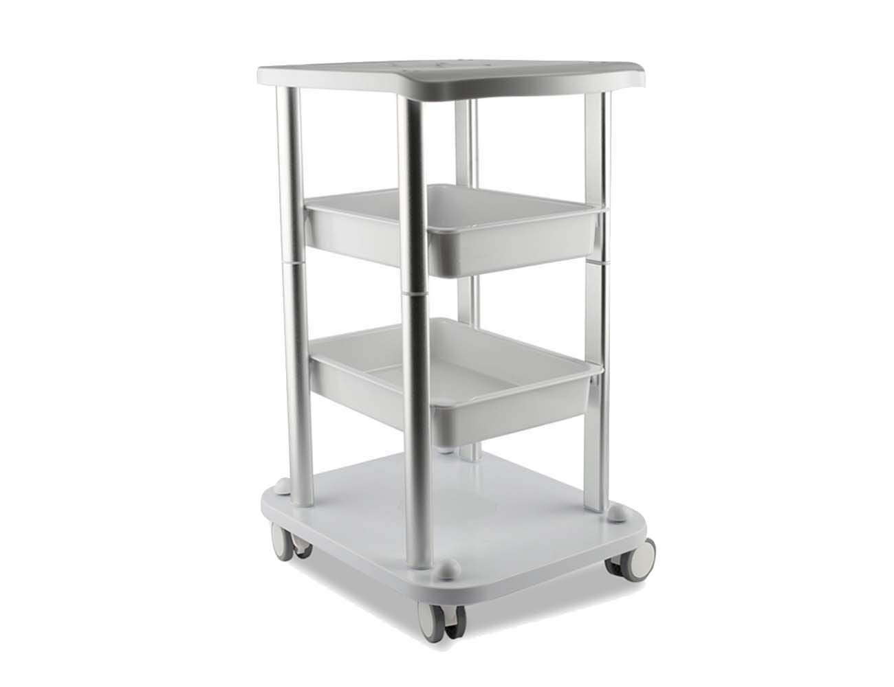 Beauty Salon Furniture Trolley Spa Styling Pedestal Rolling Cart 2 Storage Trays 4 Layers ABS Elitzia ETTRO5S