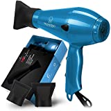 conditioning dryer - 1875W Professional Hair Dryer with Ionic Conditioning - Powerful, Fast Dry Blow Dryer - 2 Speeds, 3 Heat Settings Blue hairdryer