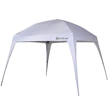 Freeland Pop up Canopy Tent for Camping, Beach Shade, 10 x 10 ft Base, 8 x 8 ft Canopy