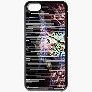 Personalized iPhone 5C Cell phone Case/Cover Skin Alex Del Piero Football Black