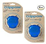 Cuppow Regular Drinking Lid for Regular Mouth Canning Jar - Blue (2 pack)