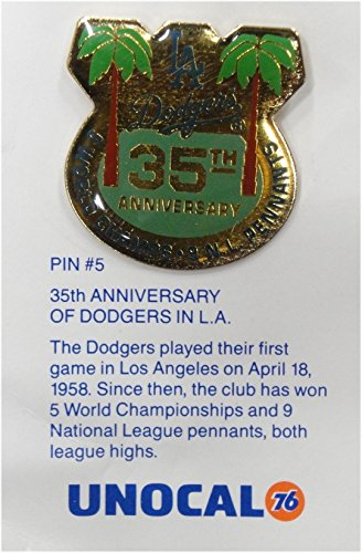 1 Pin - 35th Anniversary Logo - Los Angeles Dodgers Unocal 76 Pin Brand ()