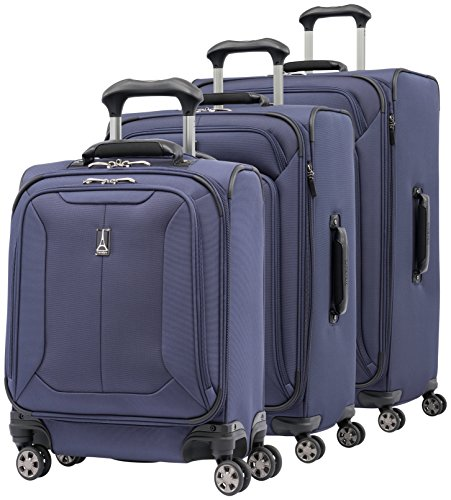 Travelpro Skypro Lite 3-Piece Expandable 8-Wheel Luggage Spinner Set: 29'', 25''and 17'' Carry On Under Seat Bag (Navy) by Travelpro