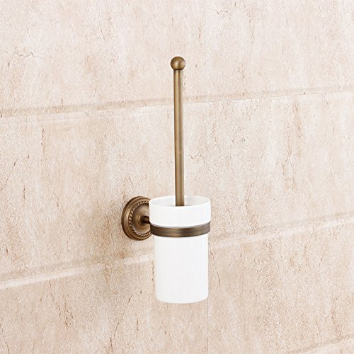 RL-European-style copper antique toilet brushbathroom holder copper brass bathroom by RY Faucet