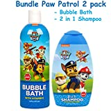 Paw Patrol BUNDLE Bubble Bath & 2 in 1 Shampoo plus Conditioner