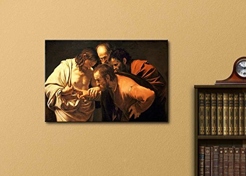 The Incredulity of Saint Thomas by Caravaggio Print Famous Painting Reproduction