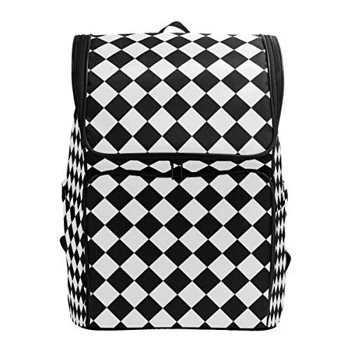 CANCAKA Backpack Modern Chess Board Pattern Background Lightweight Travel Bag Hiking Knapsack College Student School Bookbag Travel Daypack for men women