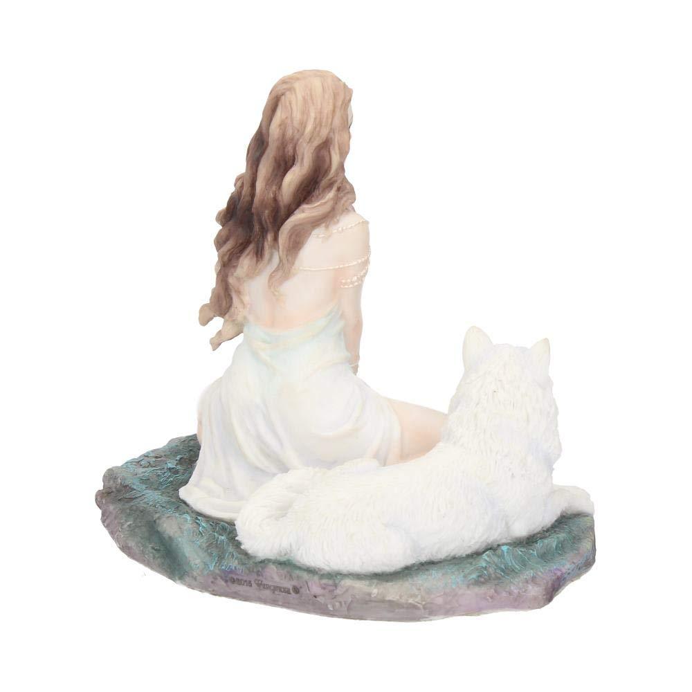 Statuetta raffigurante la Vergine delle Tempeste con lupo 16,5 cm