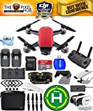 Cheap DJI Spark Fly More Combo EXTREME ACCESSORY BUNDLE With Landing Pad, 32GB Micro SD Card Plus Much More (Lava Red)