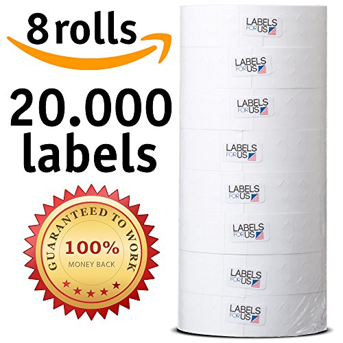 - Labels for Us - Monarch 1131 Compatible Labels - White - 20,000 Labels - Pack with 8 rolls
