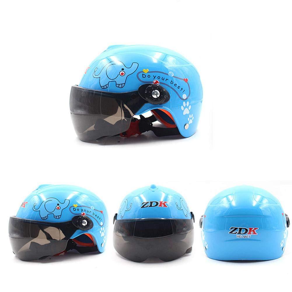 Rcraftn Kids Motorcycle Helmet Multi Pattern Anti-Vibration Children Motocross Helmet Fits On 50-54cm Head Circumference For 3-9 Years Old Children Blue /& Pink