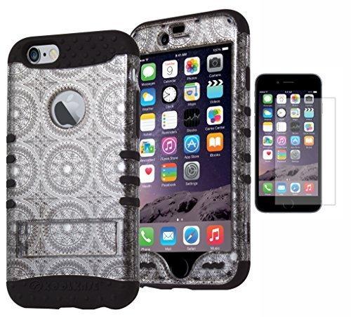 Bastex Heavy Duty Hybrid Kickstand Case For Apple - Tel Iphone 6