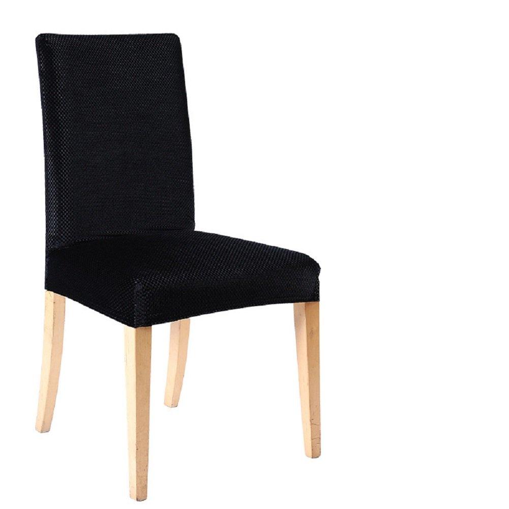 Copri sedia removibile e lavabile, per sala da pranzo, hotel, cerimonie, Black, confezione da 1 SindeRay