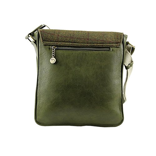 Tweed Bag Country Messenger Green Country Tweed Green Messenger Tweed Bag qR84X