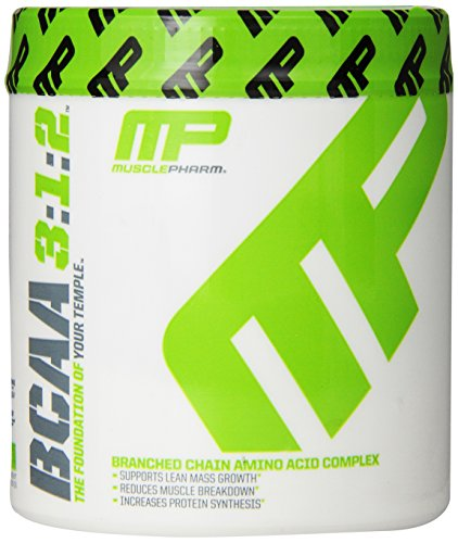 MusclePharm BCAA Powder, 6 Grams of BCAAs Amino Acids, Post Workout Recovery Drink for Muscle Recovery and Muscle Building, Unflavored, 30 Servings