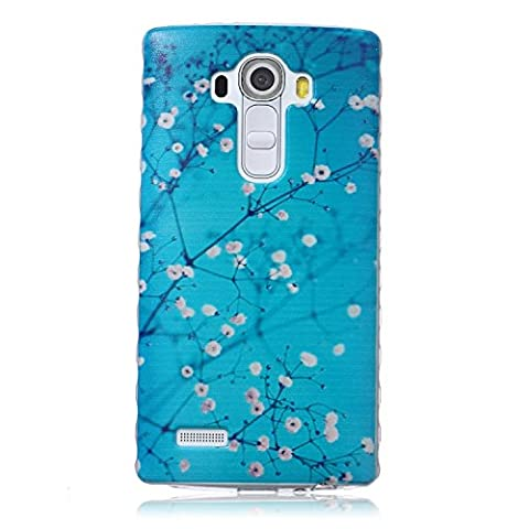 LG G4 Case, Art Design Anti-Slip Soft Rubber Gel Bumper Flexible TPU Slim Fit Thin Cover Case for LG G4 ( Color : Plum blossom (Sparkly Girls Ipod 4 Cases)