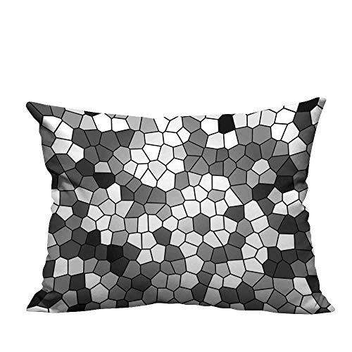 RuppertTextile Fashion Pillowcase Stained Glass Pattern with Abstract Composition Mosaic Mildew proofW15 x ()