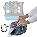 15 Pack Premium Vacuum Storage Bags - Travel Roll Up Compression Bags (50cmx35cm)