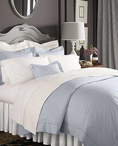 - Celeste Linens by Sferra, King Duvet Cover, White